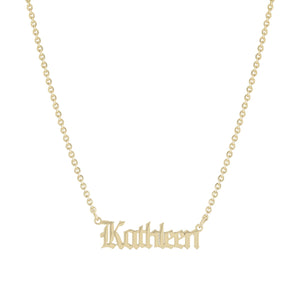 [JBD Exclusive] Old English Name Necklace