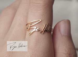 Custom Handwriting - Signature Ring