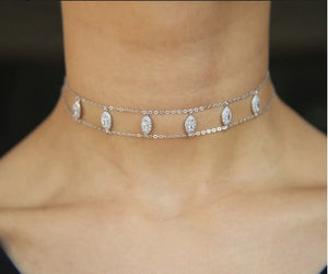 Crystal Collection Tear Drop Choker