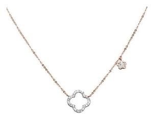 Clover Diamond Necklace with charm