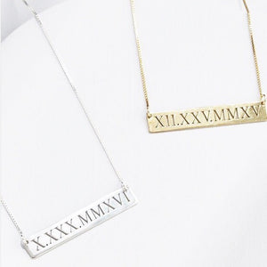 Cut Out Bar Necklace