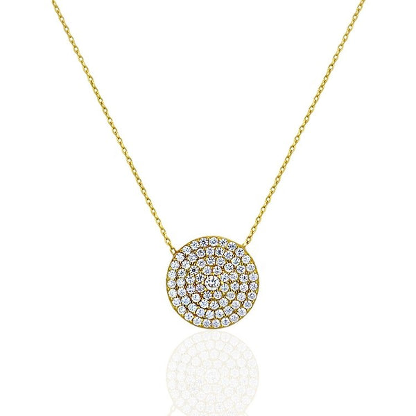 CZ Disk Necklace