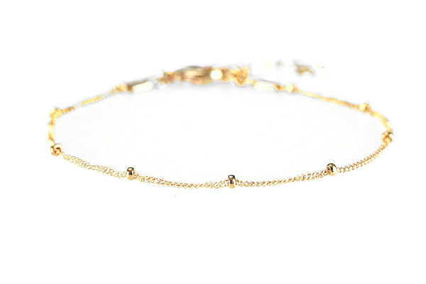 Dainty Dotted Anklet