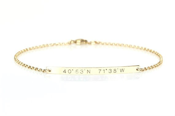 Dainty Personalized Bar Bracelet