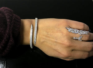 Crystal Collection Cuff Bangle