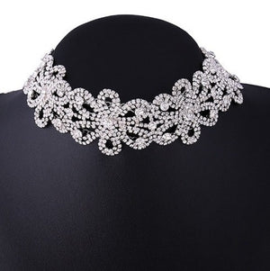 Large Floral Statement Choker