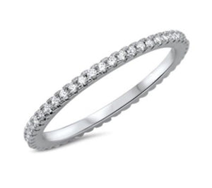 Dainty CZ Stackable Rings (set of 3)