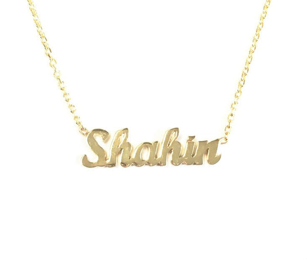 Extra Tiny Name Necklace