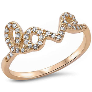 CZ Love Ring