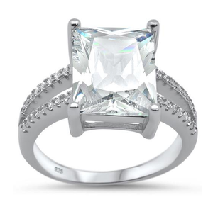 Radiant Cut CZ Ring