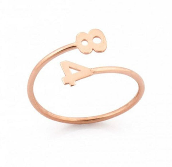 Dainty Number Ring