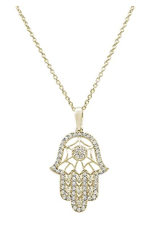 Hand of Hamsa Chai Necklace