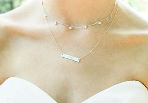 Crystal Drop Choker Necklace