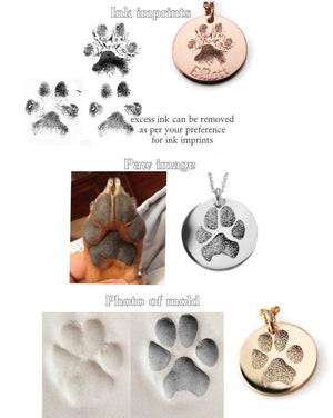 Actual Paw Print Disk Necklace- Elite Version