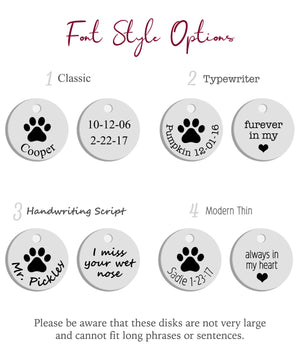 Pet Paw & Name Disc Necklace