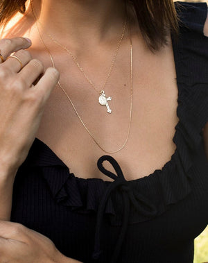 Cross and Mary Necklace