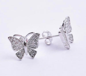 Dainty CZ Butterfly Earrings