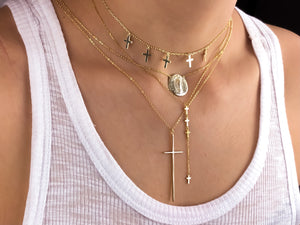 Multi Cross Drop Necklace