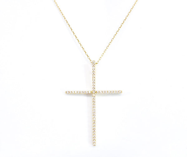Extra Grande CZ Cross Necklace