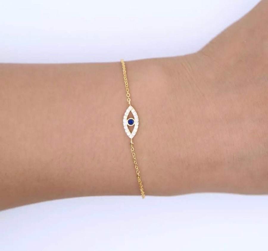 CZ Single Eye Bracelet