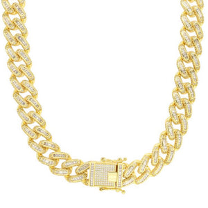 Baguette Cuban Link Chain - 14mm