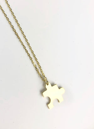 Puzzle Necklace Autism Awareness