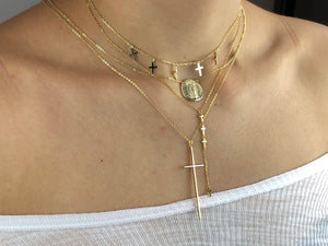 Tiny Cross Lariat