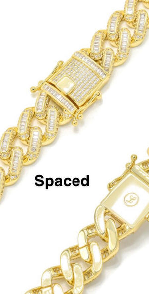 Cuban Link Chain Bracelet - 14mm [two styles]