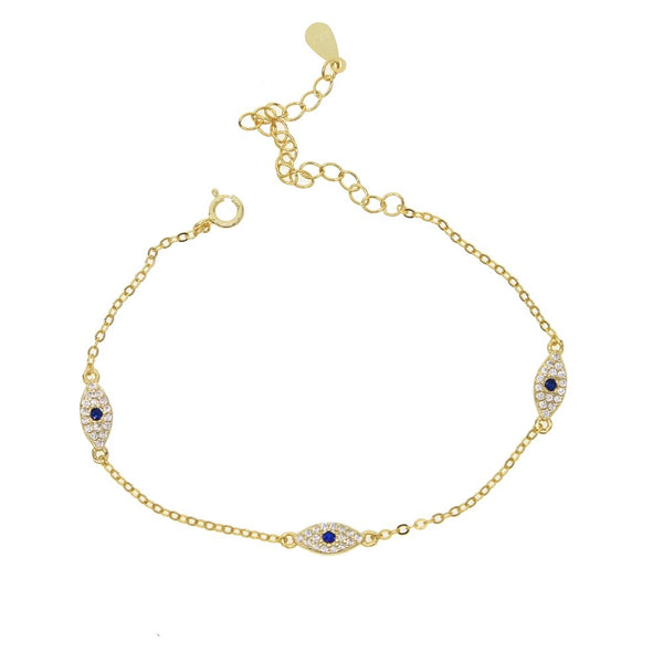 CZ Triple Eye Bracelet