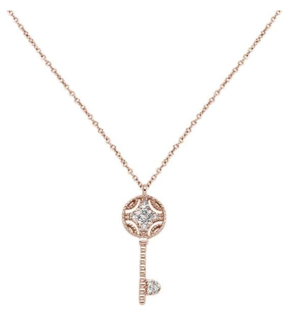 Diamond Key Pendant Necklace