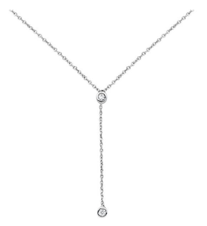 Diamond Drop Lariat Necklace