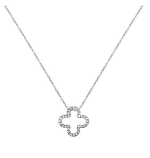 Quatrefoil Flower Diamond Necklace