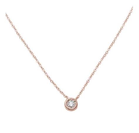 Round Diamond Bezel Necklace