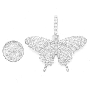 Large CZ Butterfly Pendant