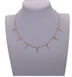 Dainty CZ Spike Drop Necklace