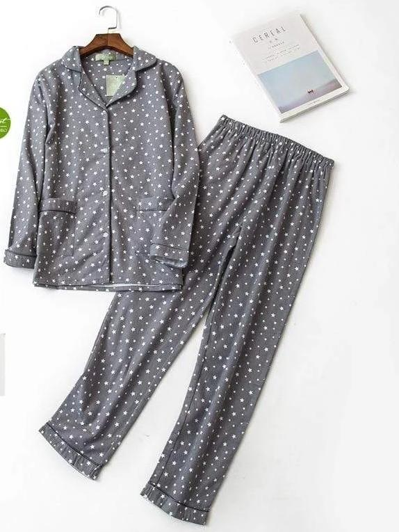 Women's Printed Pajama Set - Hils&Ties Hils & Ties Men and Women Clothing
