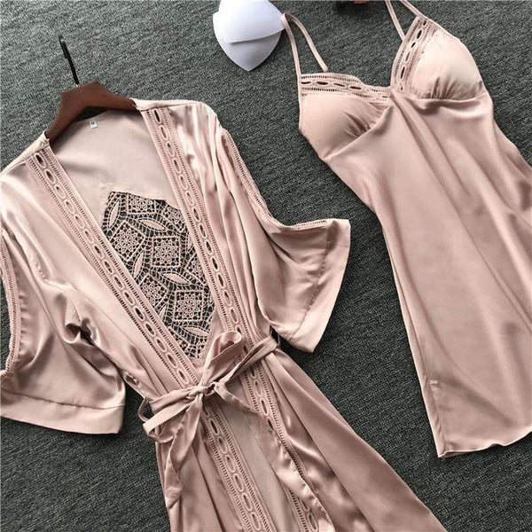 Women's Lace Robe And Gown Set - Hils&Ties Hils & Ties Men and Women Clothing