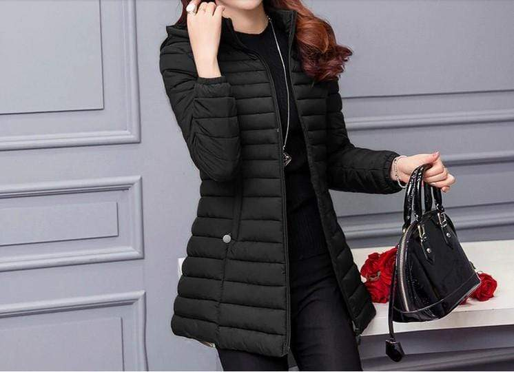 Women's Long Puffer Hooded Jacket - Hils&Ties Hils & Ties Men and Women Clothing