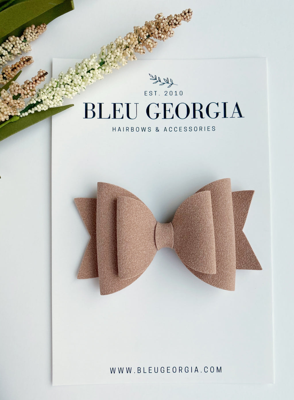 Veiled Rose Suede - Kortlynn Bow