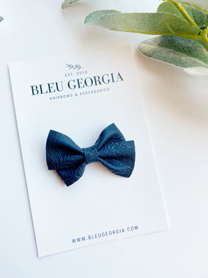 Midnight Blue - Small Twist Bow