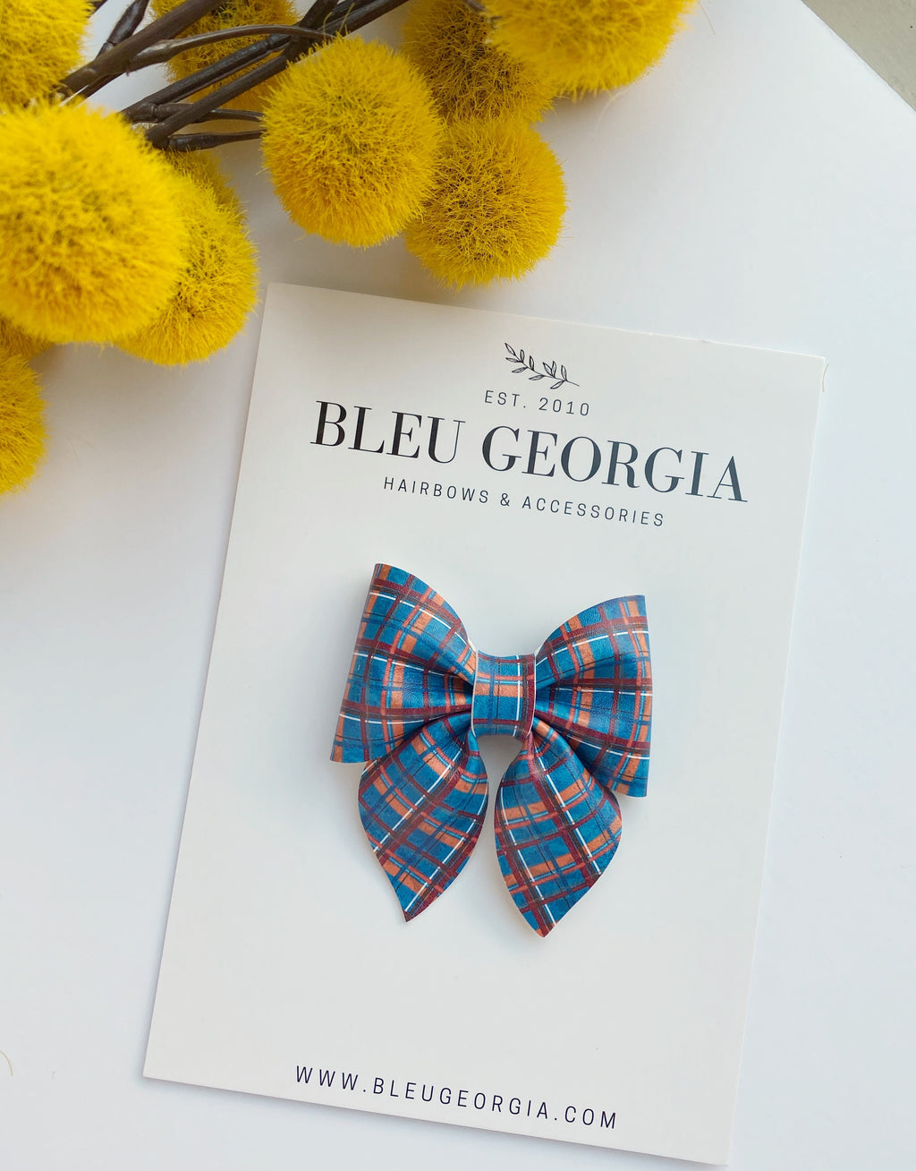 Rusty Blue Tartan - Longtail Bow
