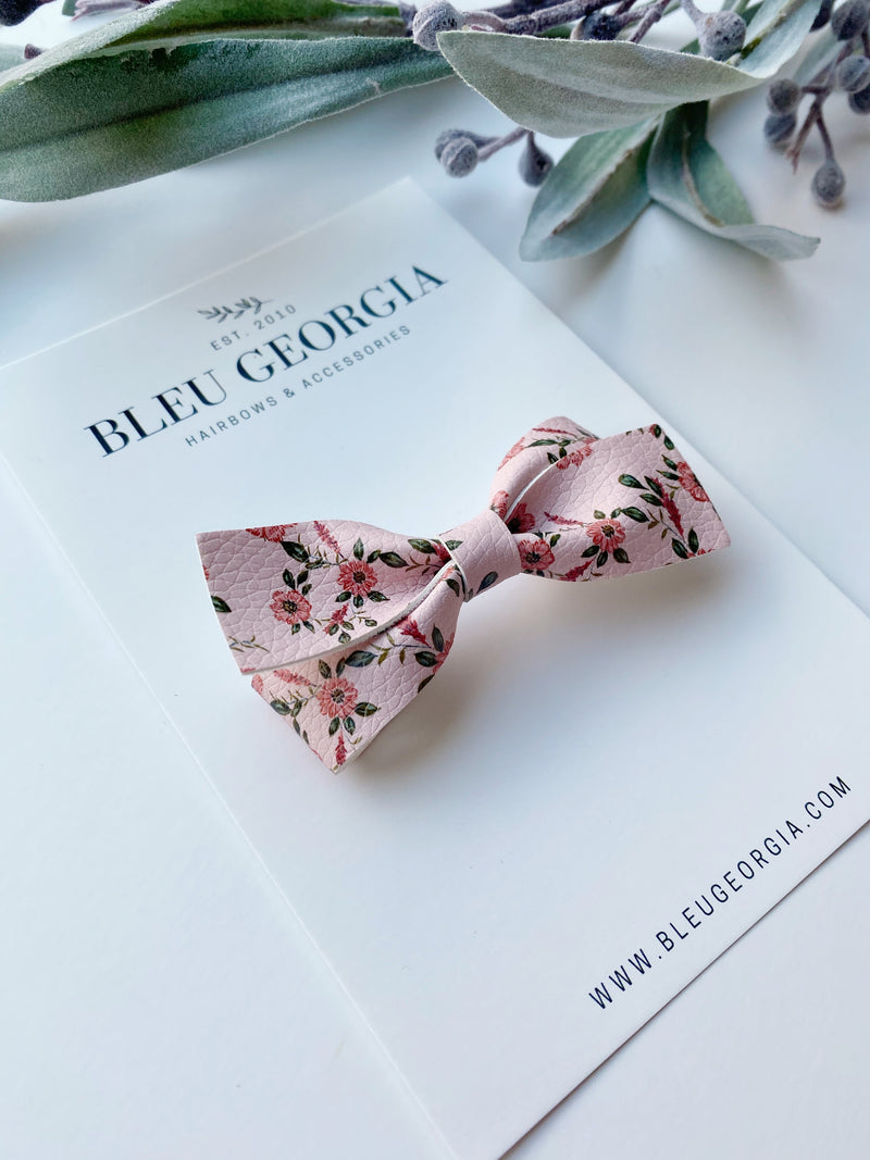Blushing Bouquet - Long Twist Bow