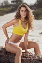 Load image into Gallery viewer, Yellow Sports Bra