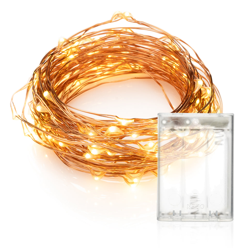 LED string lights copper wire battery powered