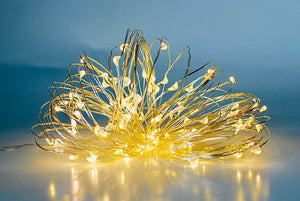 Copper wire string lights LED fanned