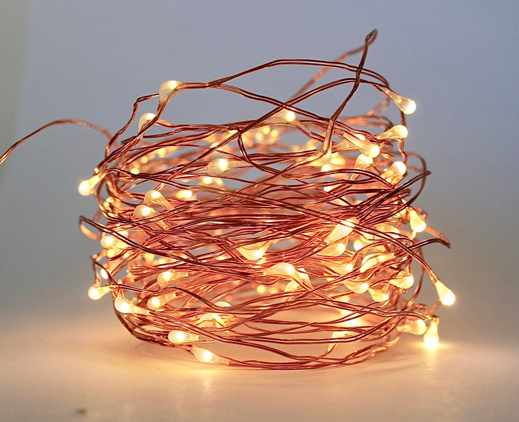 Copper wire string lights LED coil vertical