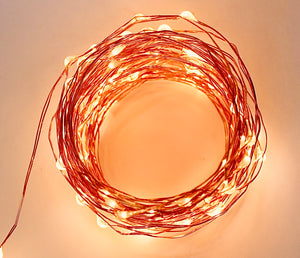 Copper wire string lights LED coil
