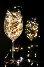 String Lights LED Copper Wire in Wine Glass