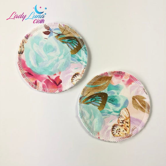 Breast Pads - Butterfly floral