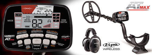 Garrett AT Max™ Metal Detector with Garrett MS-3 Z-Lynk™ Headphones